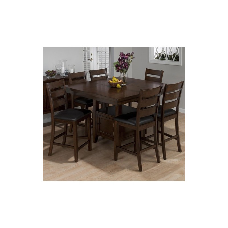 taylor brown cherry 7 piece counter height dining set with storage