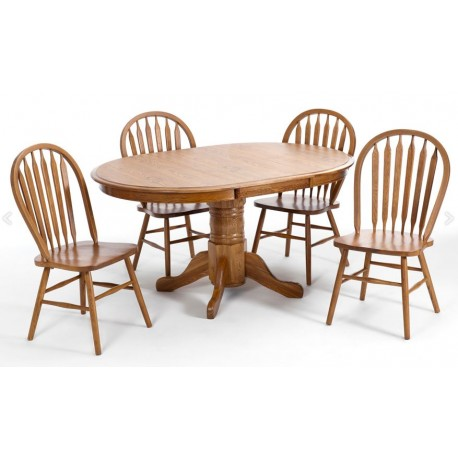 Classic Oak 5pc Dining Set