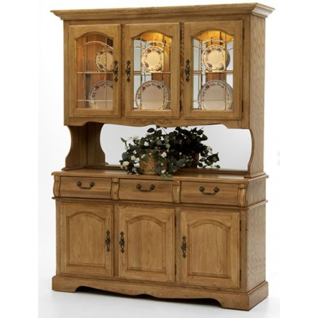 "Classic Oak 60"" China Hutch"