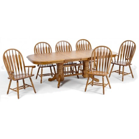 Classic Oak 7pc Dining Set
