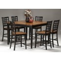 Arlington 7pc Pub Dining Set (Black)