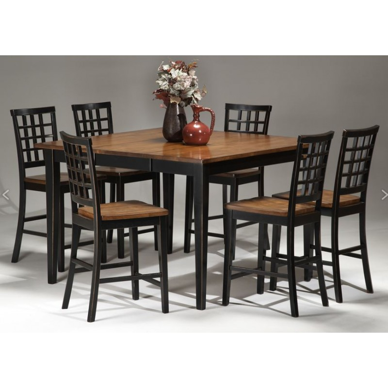 Arlington 7pc Pub Dining Set Black Eaton Hometowne Furniture Eaton And Greater Dayton Ohio
